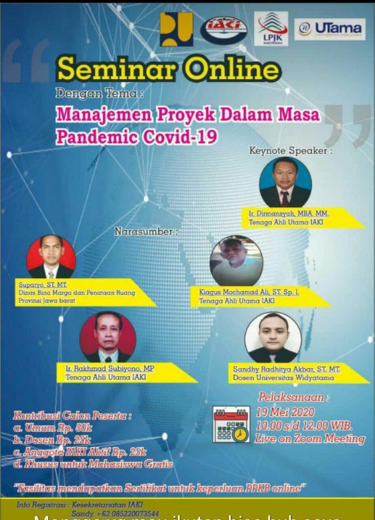 Webinar Manajemen Proyek Pada Masa Pandemic Covid-19