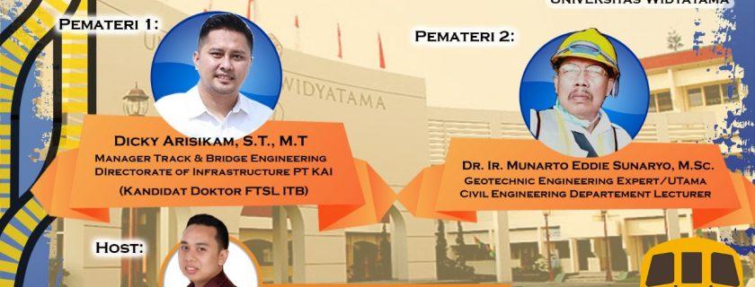 Kuliah Umum Program Studi Teknik Sipil Universitas Widyatama bersama PT. KAI (Persero)