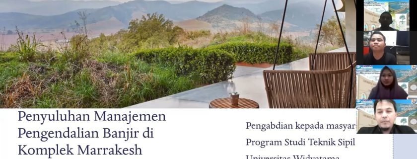 Prodi Teknik Sipil UTama Melaksanakan PKM Di Komplek De Marakkesh Bandung Untuk Memberikan Solusi Masalah Drainase Perumahan